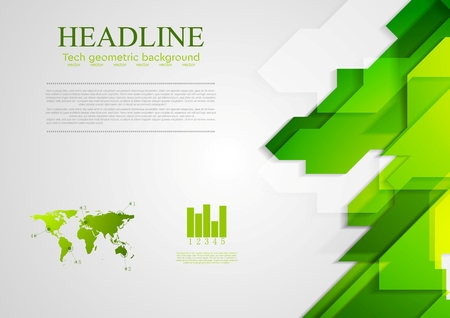 Illustration pour Abstract green hi-tech bright background. Vector design - image libre de droit