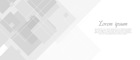 Illustration pour Abstract grey tech banner with squares - image libre de droit