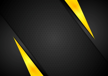 Illustration pour Dark contrast black yellow background. Vector design - image libre de droit