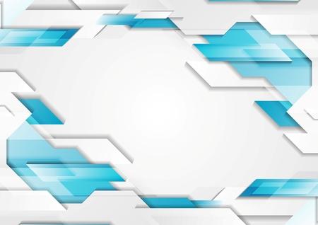 Illustration pour Abstract geometric tech corporate background. Blue white grey gradient colors. Vector illustration design - image libre de droit