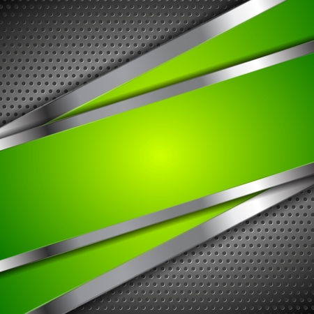 Illustration pour Abstract green background with metallic perforated design. Vector illustration - image libre de droit