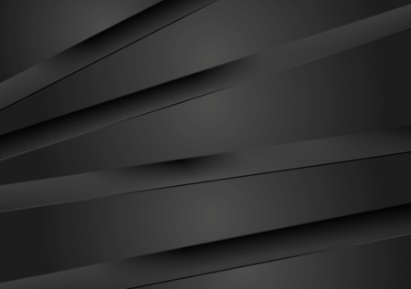 Illustration pour Abstract dark background with black stripes. Vector design - image libre de droit