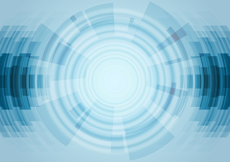Photo for Blue abstract technology background. Vector design illustration - Royalty Free Image