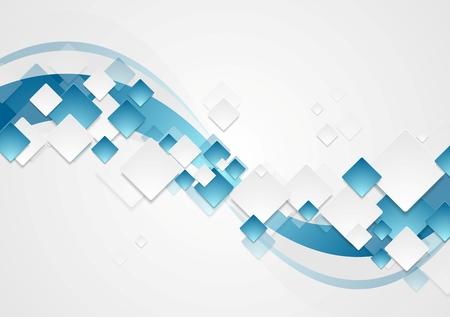 Foto für Bright wavy tech abstract background. Corporate vector design - Lizenzfreies Bild
