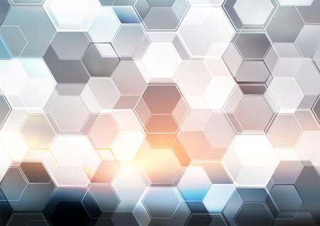 Ilustración de Abstract modern tech hexagon texture design. Vector background - Imagen libre de derechos