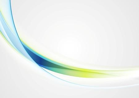 Foto de Bright shiny glow waves vector image background - Imagen libre de derechos