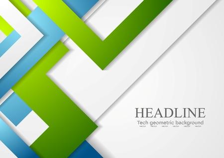Ilustración de Bright geometric corporate tech background. Vector design - Imagen libre de derechos