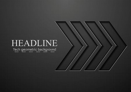 Illustration pour Tech black arrows background. Vector illustration - image libre de droit