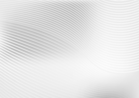 Ilustración de Abstract grey white waves and lines pattern. Vector futuristic template background - Imagen libre de derechos