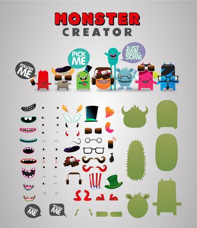 Illustration pour Monster custom generator kit - image libre de droit