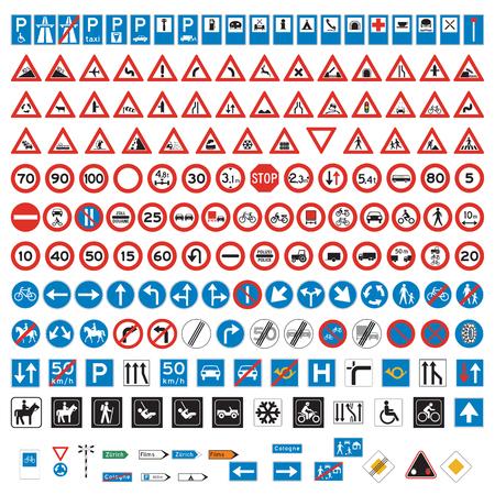 Illustration pour Road Signs and Symbols set - image libre de droit