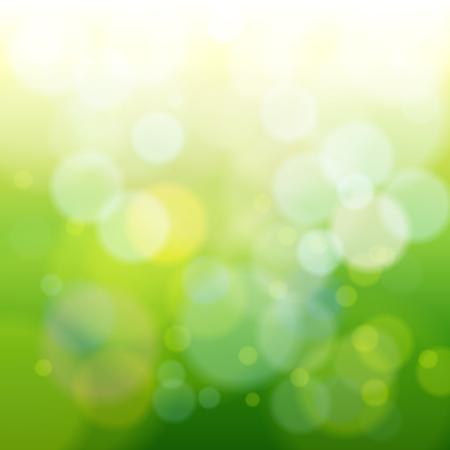 Ilustración de abstract green spring blur background vector illustration - Imagen libre de derechos