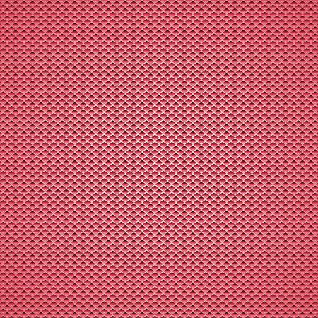 Illustration for Red carbon fiber background Seamless Patterns. Vector Illustration - Royalty Free Image