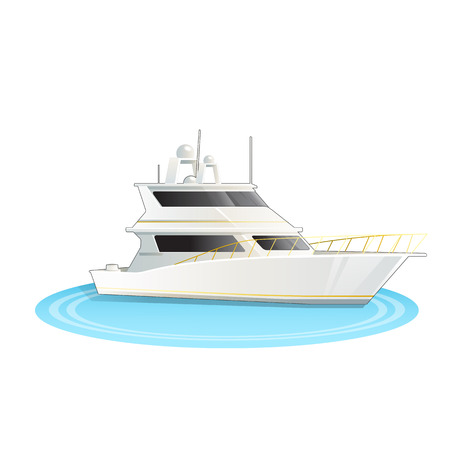 Illustration pour Stock Vector illustration of cruise ship isolated - image libre de droit