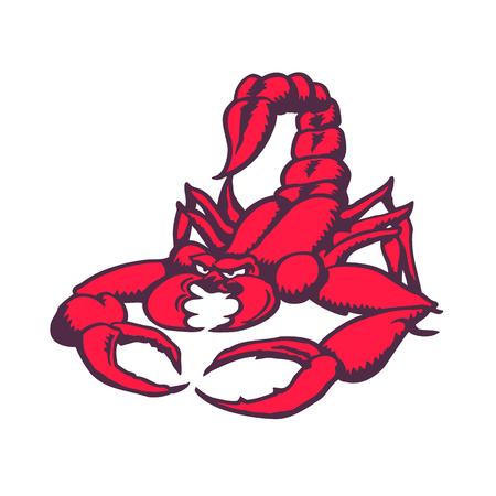 Illustration pour Scorpion cartoon character. Vector Illustration. - image libre de droit
