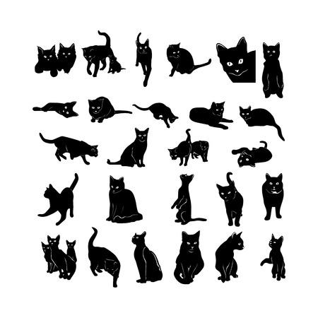 Ilustración de Animal silhouette collection. - Imagen libre de derechos