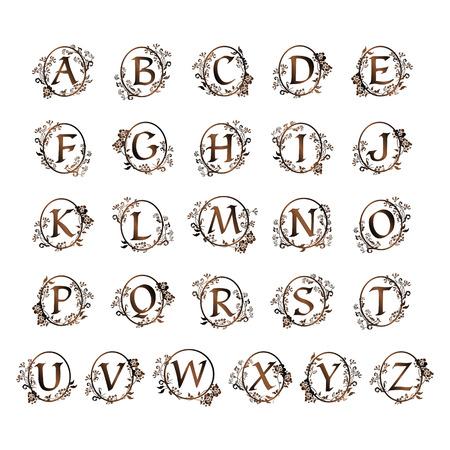Illustration pour An ornamental alphabet design. - image libre de droit