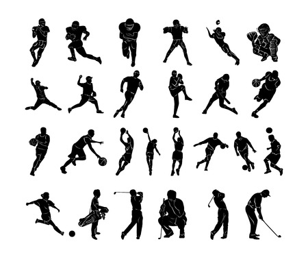 Foto per Set of Sports people collection. Vector Illustration. - Immagine Royalty Free