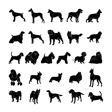 Illustration pour Dog silhouette Vector Illustration - image libre de droit