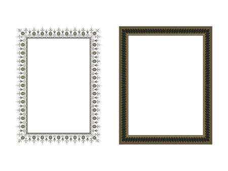 Illustration for Square elegant frame Vector Illustration. - Royalty Free Image