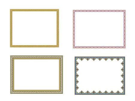 Ilustración de square elegant frame.. Vector Illustration. - Imagen libre de derechos