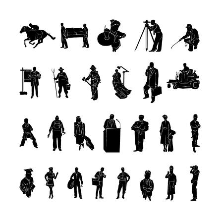 Illustration pour Profession of work silhouette Vector - image libre de droit