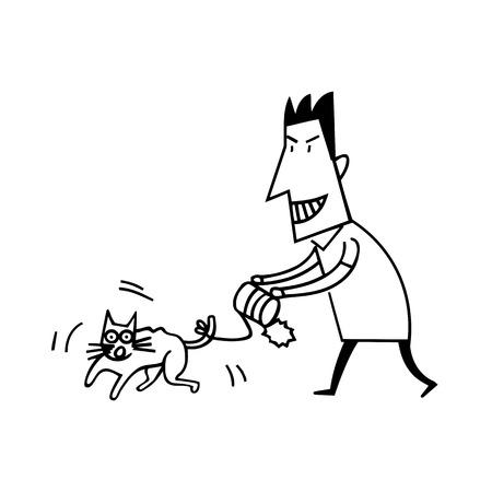 Ilustración de Animal Abuse by Human Illustration - Imagen libre de derechos