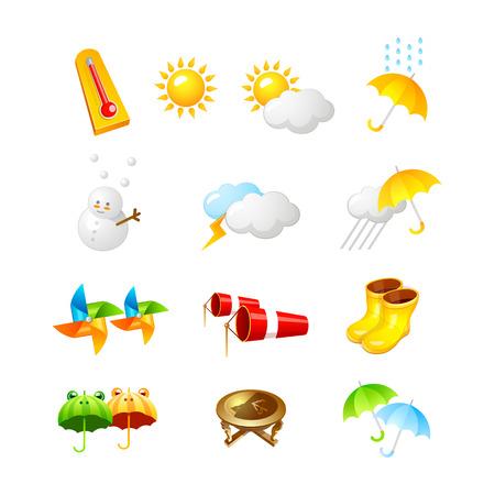 Ilustración de weather icon. 3D icon Vector Illustration design collection set - Imagen libre de derechos