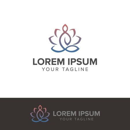 Illustration for Yoga meditation logo vector illustration isolated on white background - Royalty Free Image