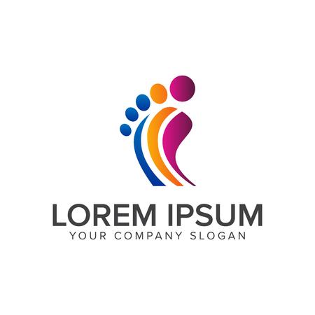 Ilustración de leg people logo design concept template - Imagen libre de derechos
