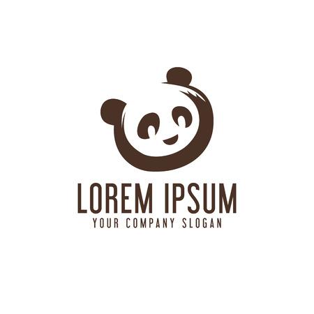Illustration pour panda logo design concept template - image libre de droit