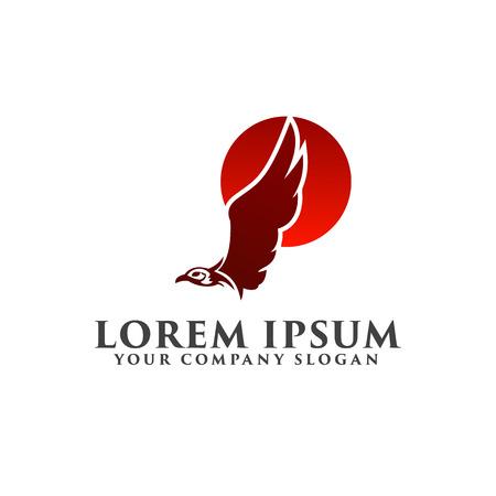 Illustration pour eagle sun logo design concept template - image libre de droit