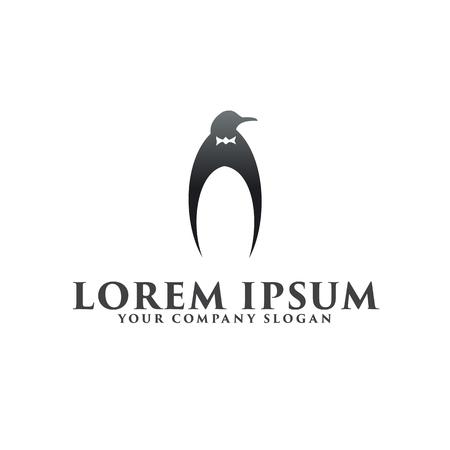 Ilustración de luxury Penguin logo design concept template - Imagen libre de derechos