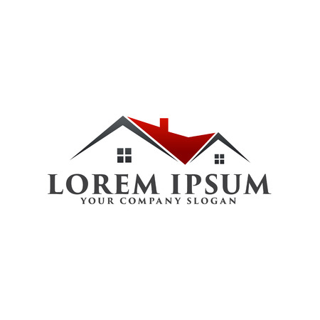 Illustration for Real estate logo. Architectural Construction logo design concept template - Royalty Free Image