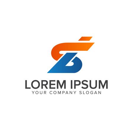 Ilustración de letter s and b logo design concept template - Imagen libre de derechos