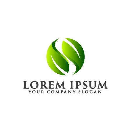 Illustration pour letter s leaf logo. Natural logos concept design - image libre de droit