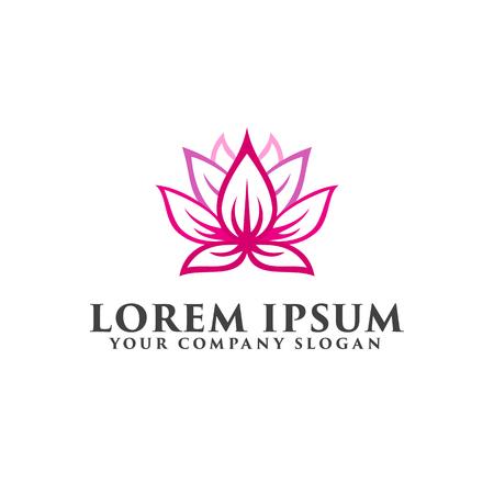 Ilustración de flower lotus logo design concept template - Imagen libre de derechos
