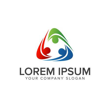 Illustration pour people Business and Consulting logo. teamwork communication group logo design concept template - image libre de droit