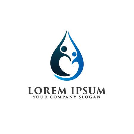 Ilustración de partners people Logos. Business and Consulting logo design concept template - Imagen libre de derechos
