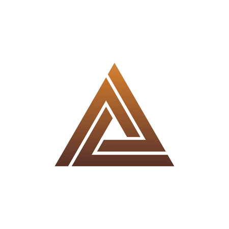 Illustration for luxury letter A logo. triangle logo design concept template - Royalty Free Image