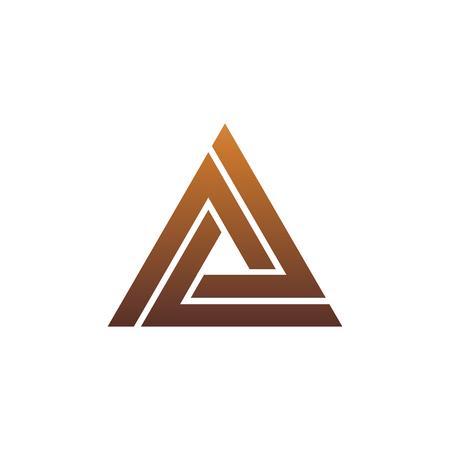 Illustration pour luxury letter A logo. triangle logo design concept template - image libre de droit