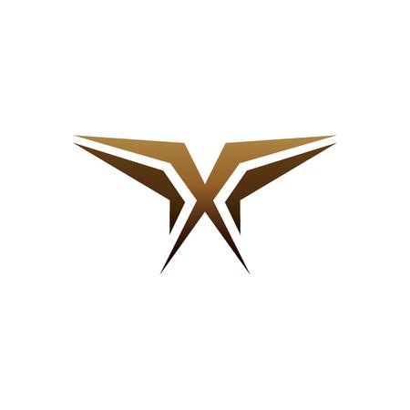 Illustration pour luxury letter x logo design concept template - image libre de droit
