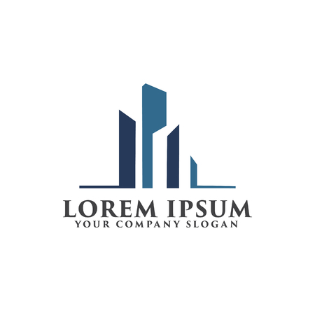 Illustration for Architectural, Construction, Real Estate and Mortgage logo design concept template - Royalty Free Image