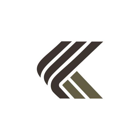 Ilustración de letter k luxury logo design concept template - Imagen libre de derechos
