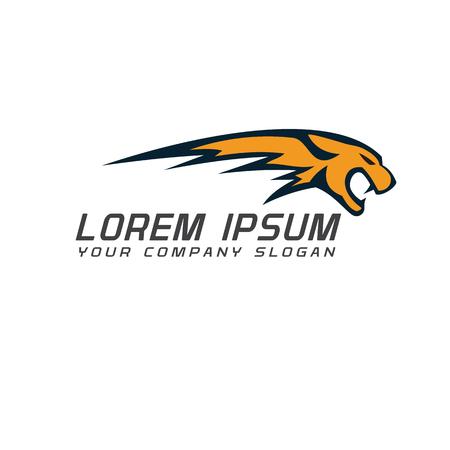 Illustration pour Tiger roar logo. fast design concept template - image libre de droit