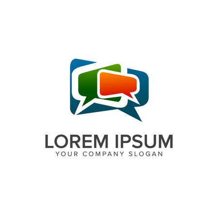 Ilustración de Comment Communications logo design concept template - Imagen libre de derechos