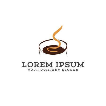 Illustration pour Hot Coffee logo design concept template - image libre de droit