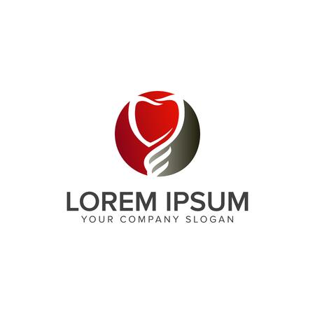 Ilustración de dental logo design concept template - Imagen libre de derechos