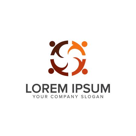 Illustration pour Education people logos design concept template - image libre de droit