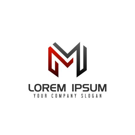 Illustration for Modern Letter M logo design concept template - Royalty Free Image